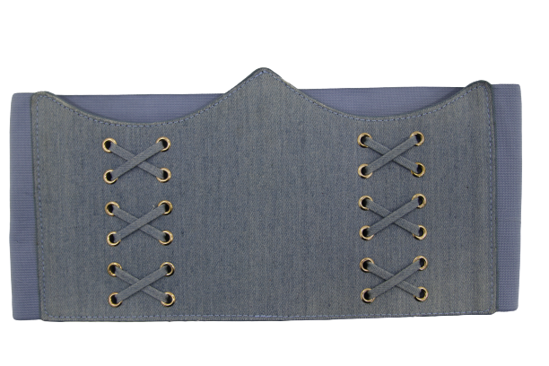 Plain Denim Corset Inspired Belt