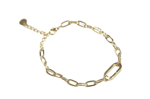 Gold Carabiner Chain Anklet