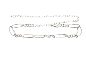 Silver Chain Link Chain Belt