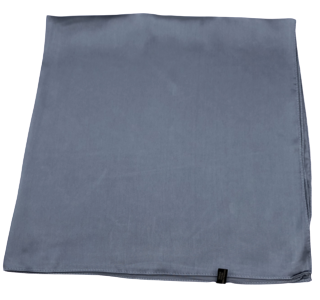 Dark Grey Plain Sateen Square Scarf