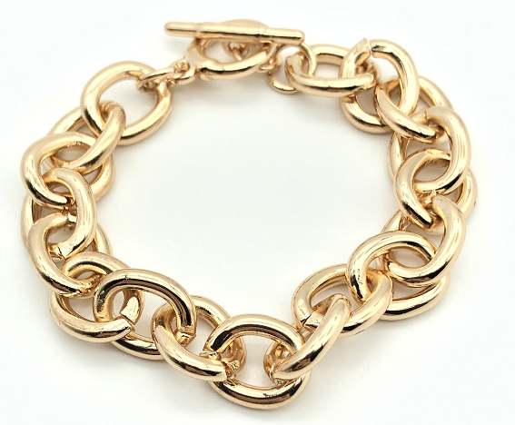 T Bar Chunky Chain Bracelet