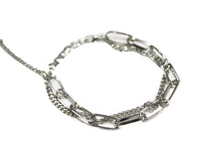 Silver Double Chain Anklet