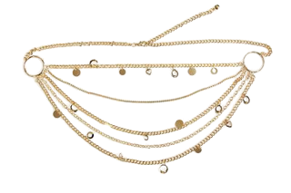 Gold Layered  Charm Chain Belt