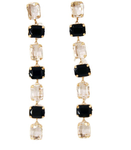 Rectangle Stone Drop Earring