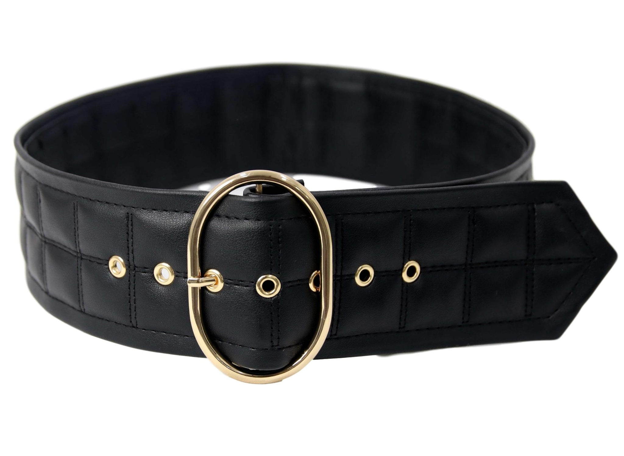 Circle Buckle Padded shape Belt