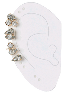 Gold Diamante Stone Ear Cuff