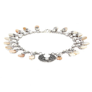 Flat Back Pearls Choker with Embellished  Diamante