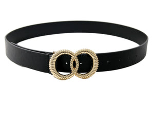 Textured Double Circle Belt