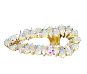 Holographic Stone Cluster Hair Slide