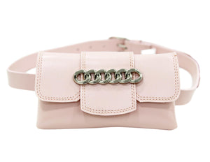 Pink Chain Detail Belt Bag