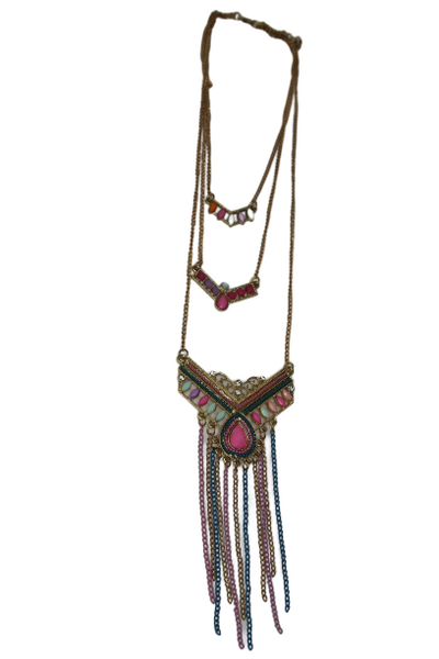 3 Tier beaded necklace