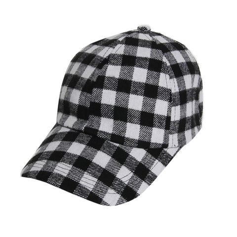 Black and White Checkered Cap