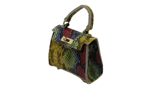 Multi Snake Mini Bag with Chain