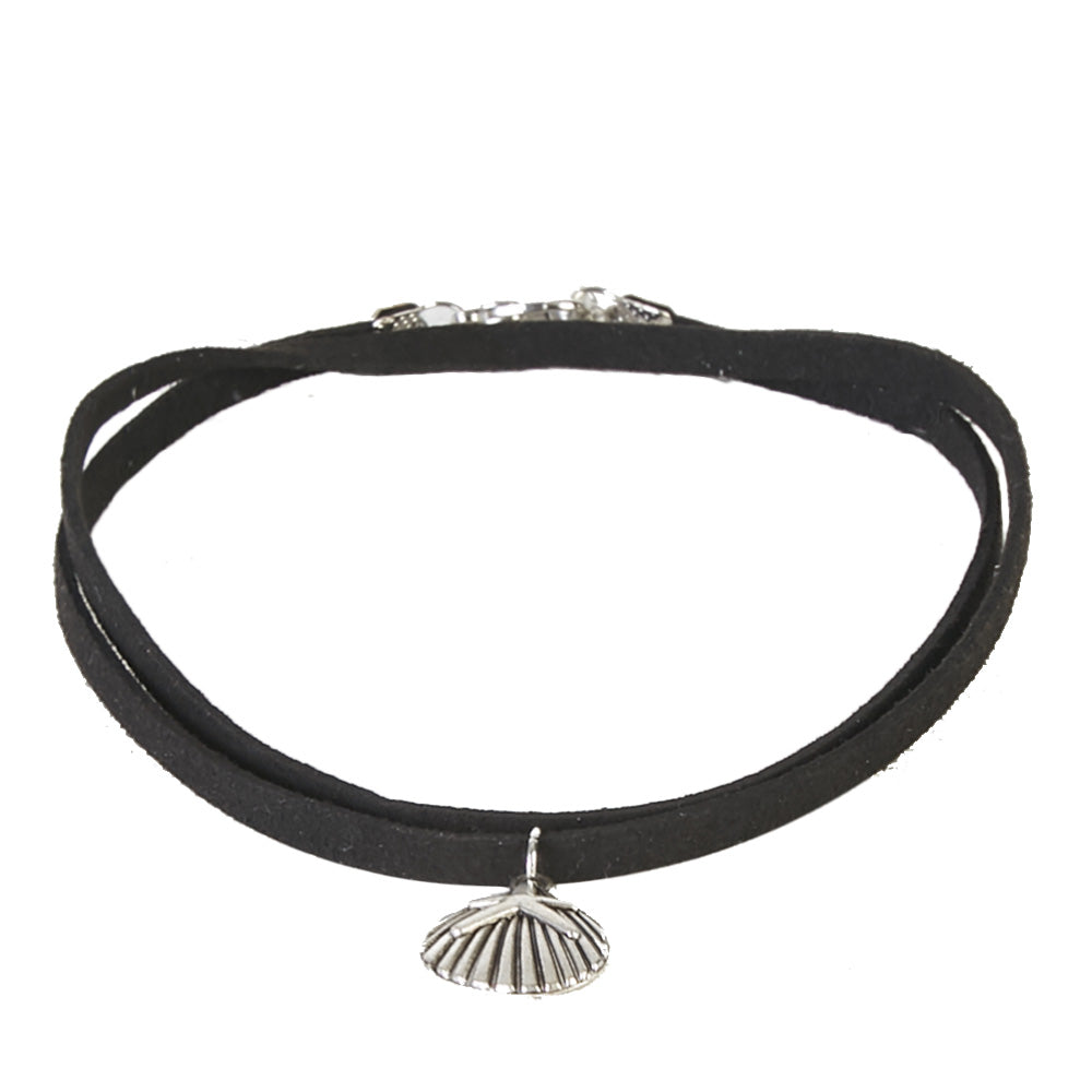 Suede Choker with Sea Shell & Star Charm
