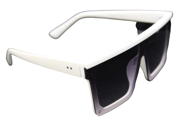 White Large Square Sunglasses