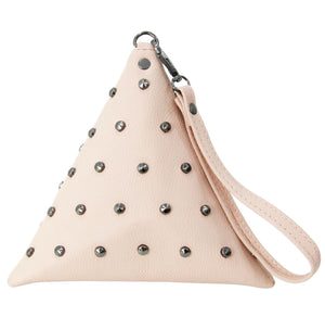 Pink Triangle Studded Bag