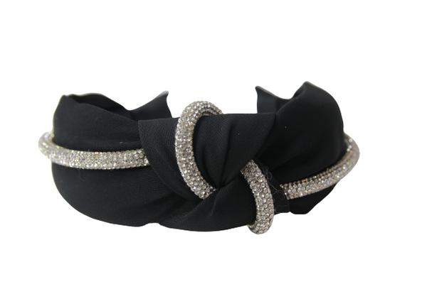 Poly Knot Diamond Trim Headband