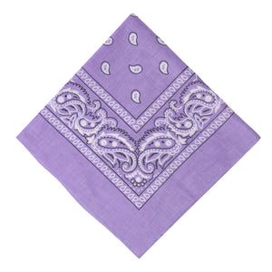 Lilac Double Sided Paisley Cotton Bandana