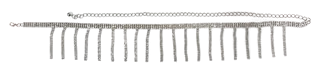 Silver Diamante Tassel Belt