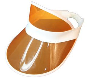 Orange Clear Plastic Visor