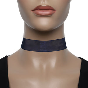 Navy Sheer Net Choker