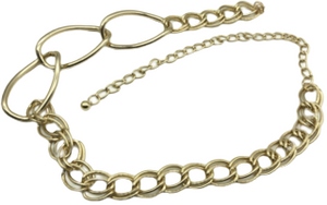 3 Gold Large And Mini Double Links Chain Belt