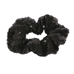 Black Sequin Scrunchie