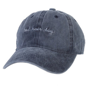 Blue 'Bad Hair Day' Denim Cap