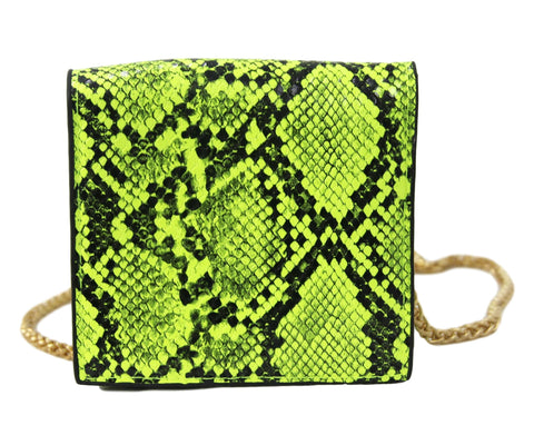 Neon Lime PU Mini Shoulder Bag