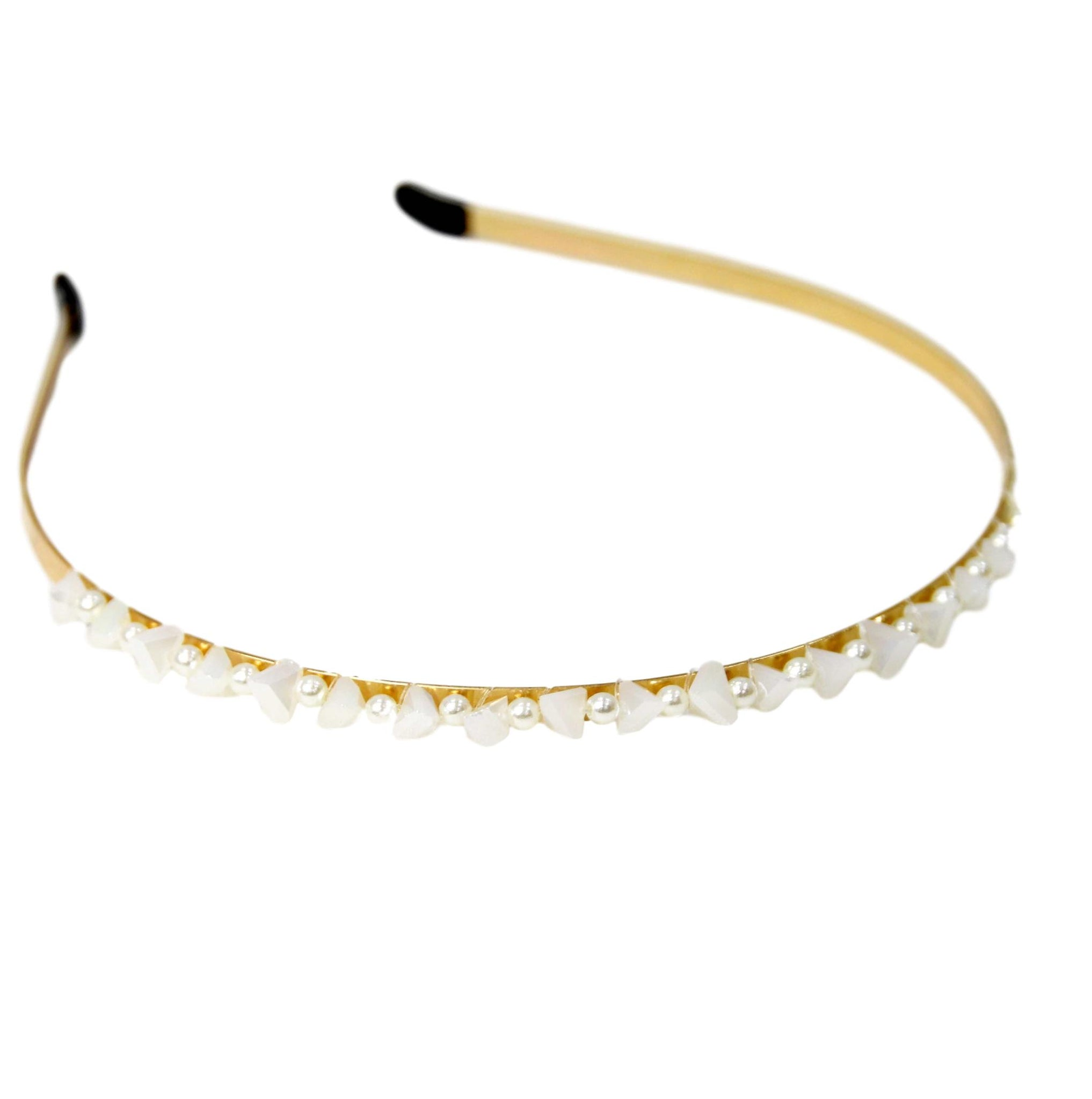Gold Crystal And Bead Headband