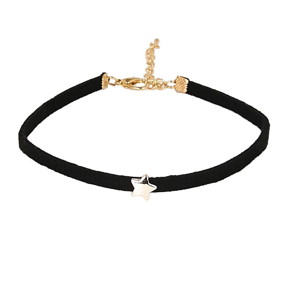 Suede Choker with Star Pendant