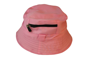 Plain Bucket Hat With Zip