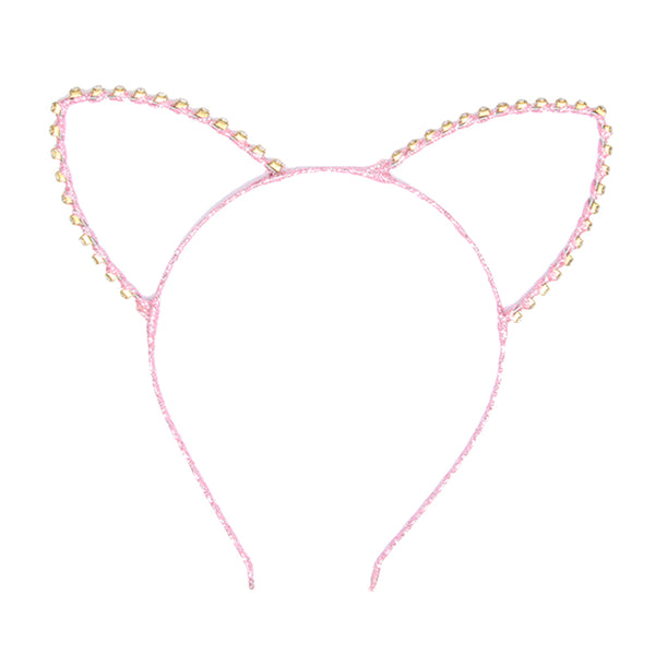 Glitter diamante cat ears headband