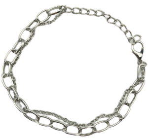 Silver Chain Layered Bracelet