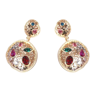 MULTI GEM EARRING