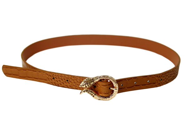 Diamante snake buckle belt