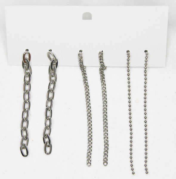 Silver Chain Earring Pack