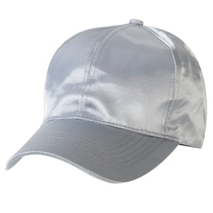 Grey Satin Cap
