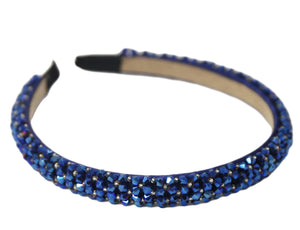 Dark Blue Tiny Beads Headbands