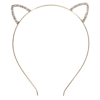 Metallic Head Band with Pearl Embellished Cat Ears