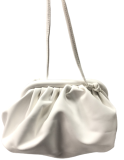 White Gathered PU Bag