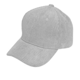 Light Grey Cord Cap