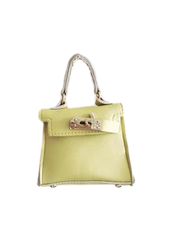 Light Yellow Mini Bag with Chain