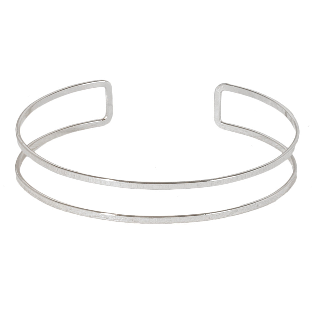 Silver Thin Cut Out Solid Choker