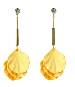 Yellow Flower Drop Earring