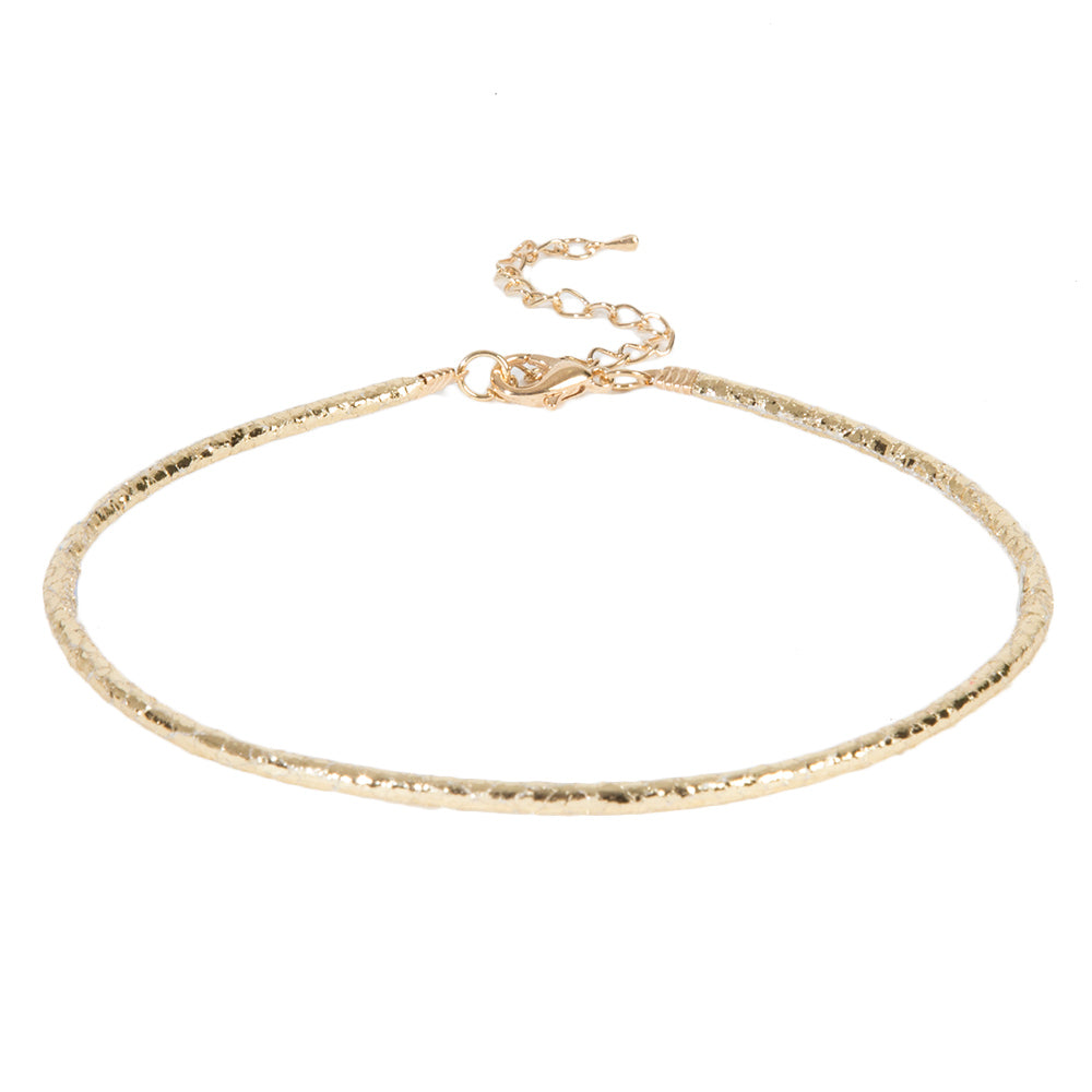 Gold Metallic Rope Delicate Choker