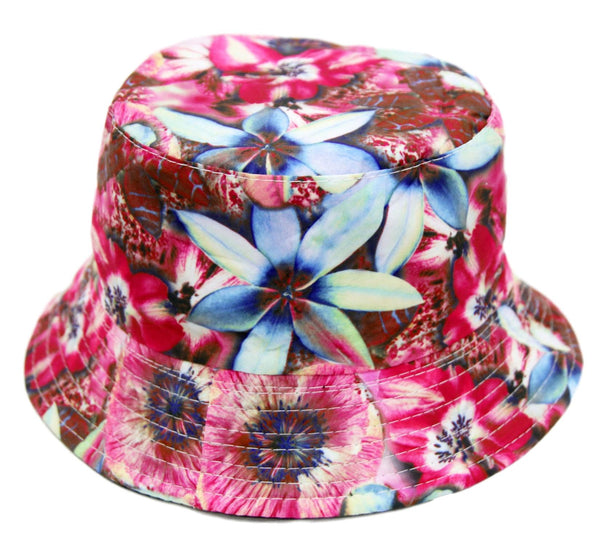 Pink Floral Bucket Hat