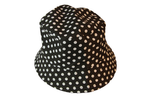 Black Polka Dot Bucket Hat