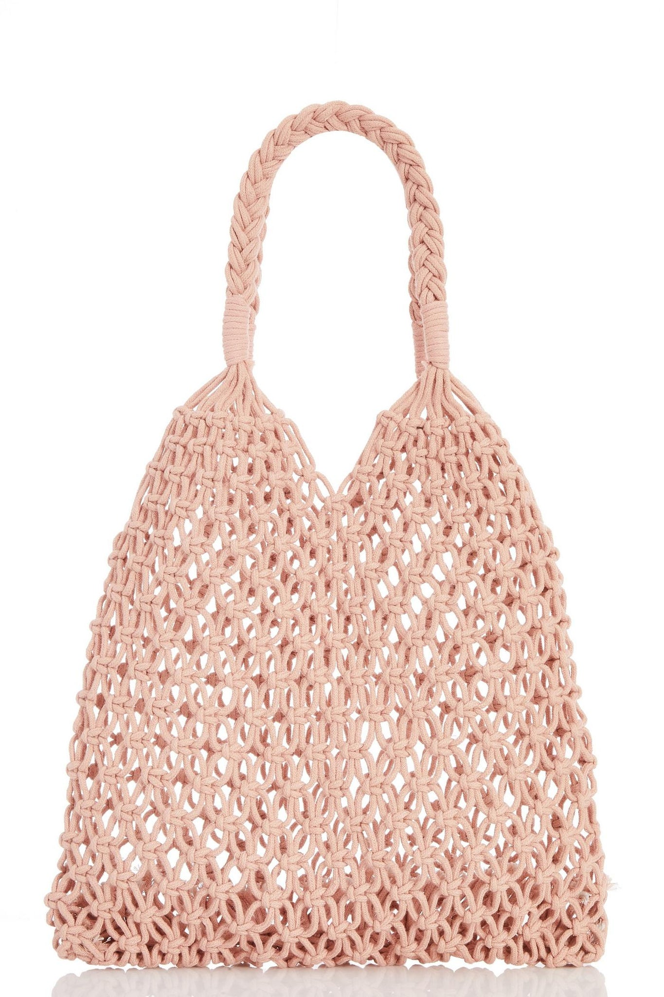 Blush Macrame Shopper Bag