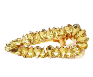 Yellow Stone Cluster Hair Slide